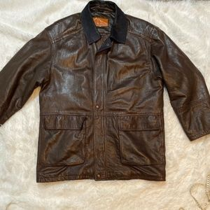 Salvatore Ferragamo Leather Brown Lambskin Jacket